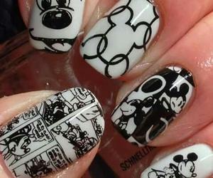 nails, disney, and mickey image