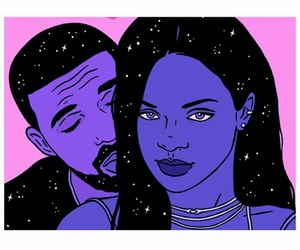 Drake, rihanna, and purple image