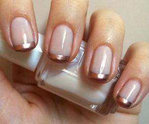 nails, nail polish, and french manicure image