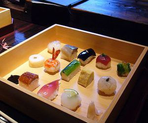 sushi and japanese dinner image