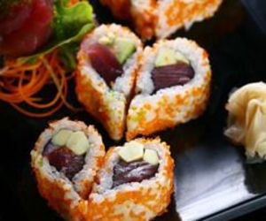 Valentine's Day, heart shaped sushi, and japanese dinner image
