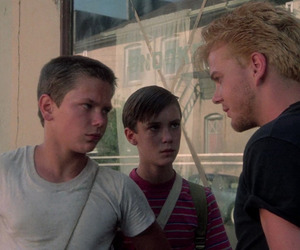 kiefer sutherland, river phoenix, and stand by me image