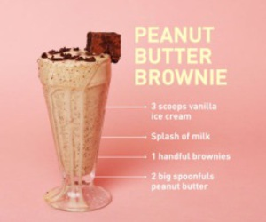milkshake, food, and peanut butter image
