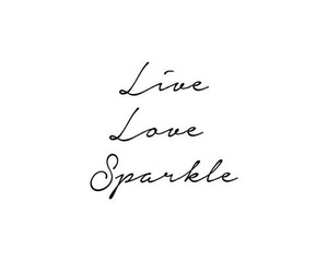 quotes, sparkle, and live image