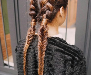 beautiful, hairstyle, and braid image