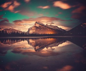 clouds, reflection, and lake image