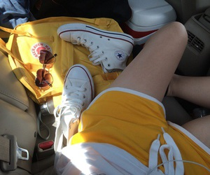 backpack, car, and converse image