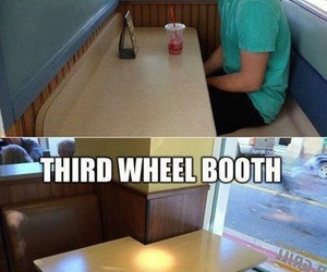 booth, funny, and alone image