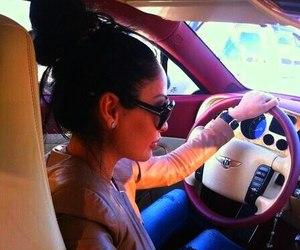girl, car, and Bentley image