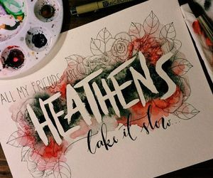 twenty one pilots, art, and heathens image