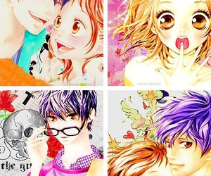 cute couple, strobe edge, and manga shojo image