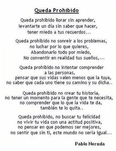 Queda Prohibido Pablo Neruda On We Heart It