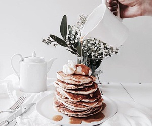 food, pancakes, and white image