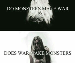 monster, war, and the 100 image
