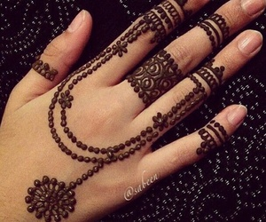 beautiful, henna, and simple image