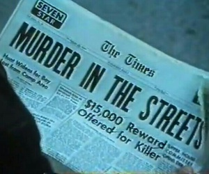 murder, newspaper, and aesthetic image