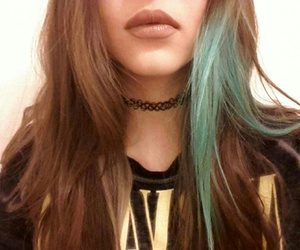 big lips, blue hair, and I Love You image
