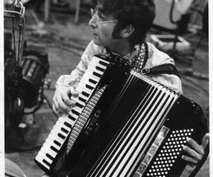 lennon, the beatles, and acordeon image