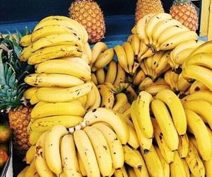 banana, fruit, and pineapple image
