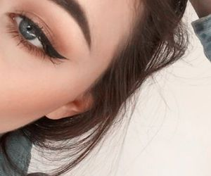 makeup, eyes, and cosmetics image