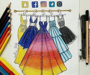 facebook, dress, and instagram image