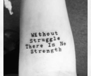 strength, life, and quote image