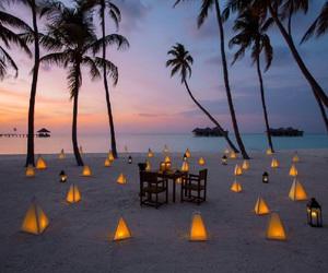 beach, holiday, and Maldives image