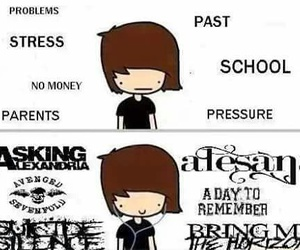 music, suicide silence, and asking alexandria image
