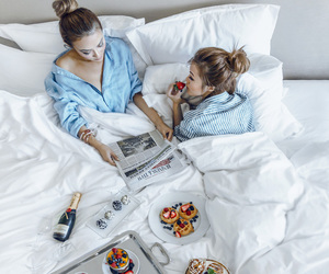 bedding, breakfast, and food image
