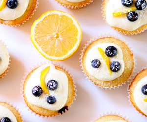 food, lemon, and blueberry image