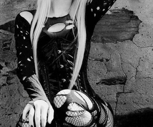 black and white and goth image