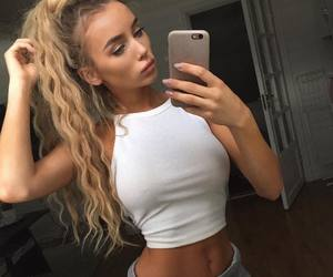 hair, blonde, and fitness image