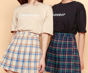 asian, black, and skirt image