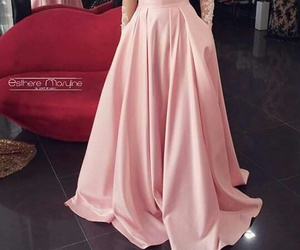 dress, classy, and pink image
