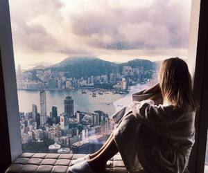 girl, city, and view image
