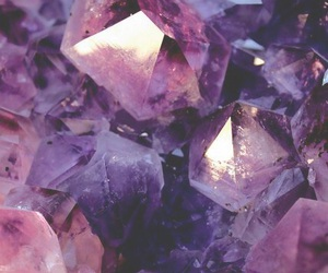 purple, crystal, and wallpaper image