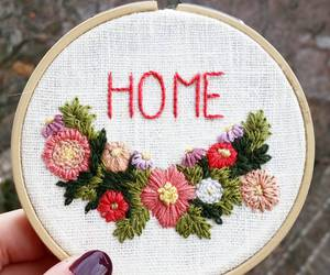 crafts, embroidery, and flowers image