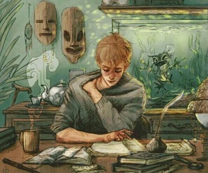 harry potter, remus lupin, and art image