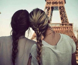 paris, friends, and hair image