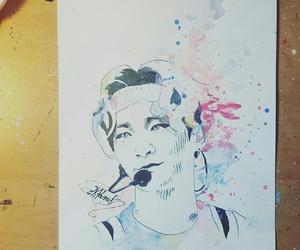drawing, korea, and kpop image