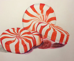 art, drawing, and peppermint image