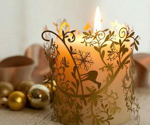 candle and christmas image