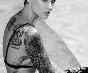 ruby rose, tattoo, and model image