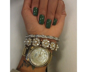 nails, watch, and green image