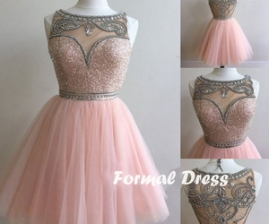 dress, pink dress, and prom dress image