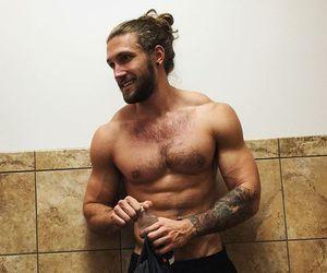 bae, beard, and gym image