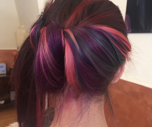 blue, color, and fuxia image