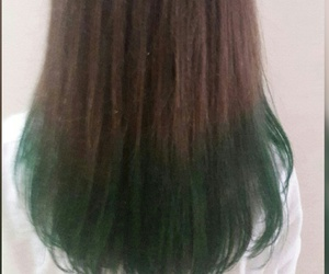 green hair, pretty, and my hair image