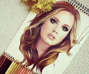 Adele, art, and drawing image