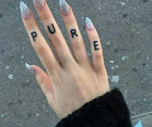 nails, tattoo, and pure image
